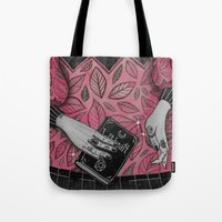loll3 Tote Bags featuring Witchcraft by lOll3