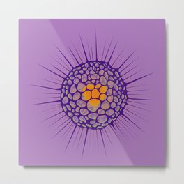 funky sea ​​urchin with heart Metal Print