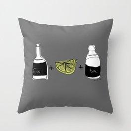 Gin and Tonic Throw Pillow