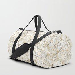 Modern gold and marble geometric star flower image Duffle Bag
