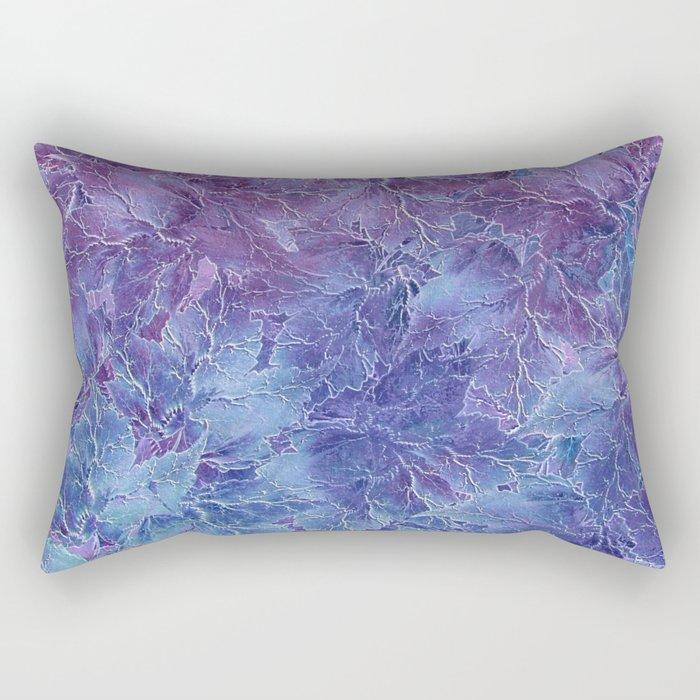 Frozen Leaves 4 Rectangular Pillow