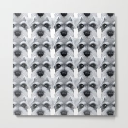 Schnauzer pattern-Grey Dog illustration original painting print Metal Print