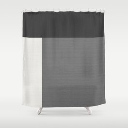 Geometrically Grey Split Horizontal & Vertical - Mondrian Shower Curtain
