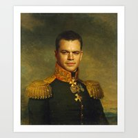 replaceface Art Prints featuring Matt Damon - replaceface by replaceface