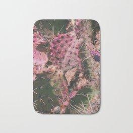 Pink Winter Cacti in Palo Duro Canyon, Texas Bath Mat