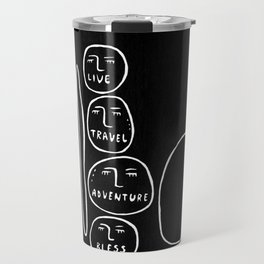live, travel, adventure, bless Travel Mug