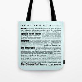 Desiderata - Seafoam Tote Bag