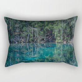Magical Atmosphere By The Forest Source - Beautiful Reflection #decor #society6 #buyart Rectangular Pillow
