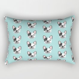 Frenchie black and white french bulldogs french bulldog gifts for dog lovers Rectangular Pillow