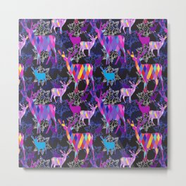 Diamond Deer Metal Print