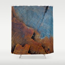 Colored Wood Shower Curtain