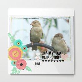 Sparrow Valentine Metal Print