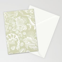 Ocean Critters with Grey Background Stationery Cards
