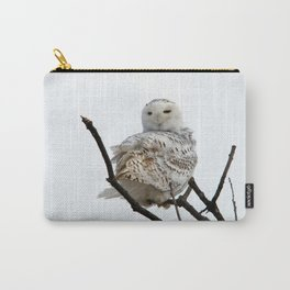 Twist and Shout (Snowy Owl) Carry-All Pouch