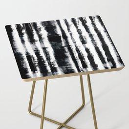 Tie-Dye Shibori Stripe BW Side Table