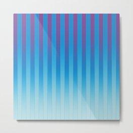 Gradient Stripes Pattern ptb Metal Print