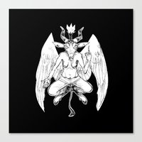 baphomet Canvas Prints featuring baphomet by musa