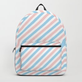 Blue, Pink & White 3 Backpack