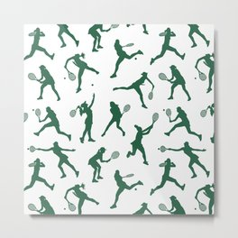 Jade Tennis PLayers Metal Print