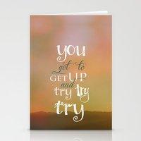 motivational Stationery Cards featuring MOTIVATIONAL QUOTE by Monika Strigel