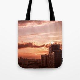 Dawn in the city V2 Tote Bag