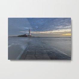 St Marys Lighthouse Metal Print