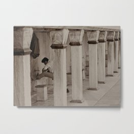"Man washing feet at Sultan Ahmed Mosque (""Blue Mosque"", Istanbul, TURKEY) Metal Print"