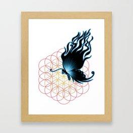 bluefire butterfly Framed Art Print