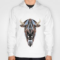 bison Hoodies featuring bison by Manoou