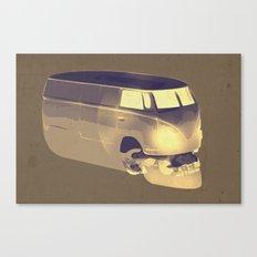 Skull Volkswagen Canvas Print