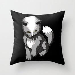 Spooky Cat Kitten Throw Pillow