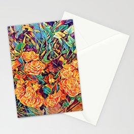 Red Orange Valentine Flowers Stationery Cards