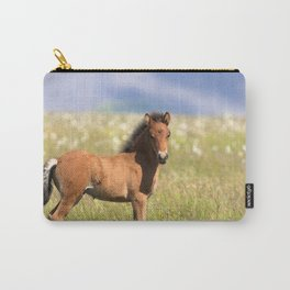 Watercolor Horse 39, Icelandic Pony, Höfn, Iceland, Paused in Curiosity Carry-All Pouch