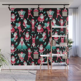 Busy Santas I Wall Mural