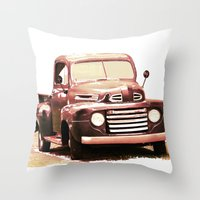 truck Throw Pillows featuring Old Truck by Regan's World