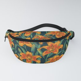 Orange lily flowers Fanny Pack