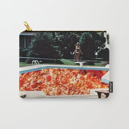 Pizza Pool Party Collage Carry-All Pouch