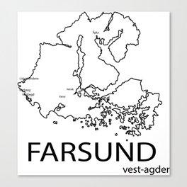map of farsund Canvas Print