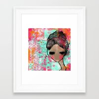 keep calm Framed Art Prints featuring keep calm by SannArt