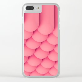Pink Tubes Clear iPhone Case