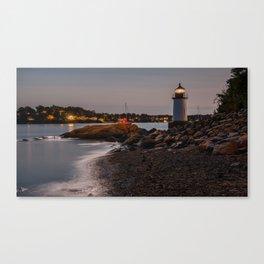Lighthouse at night Canvas Print