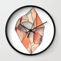 crystal Wall Clocks featuring Crystal  by Matt Smith