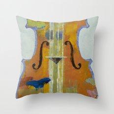 Violin Butterflies Throw Pillow