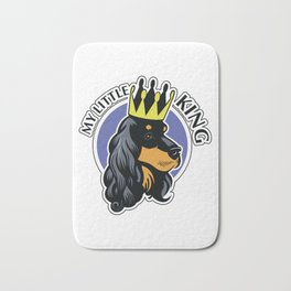 Black and tan cocker spaniel head Bath Mat