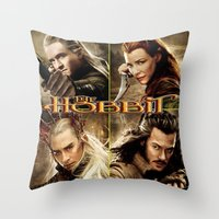 the hobbit Throw Pillows featuring Hobbit by custompro