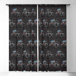 Monster Pickup Truck Cartoon Blackout Curtain