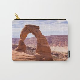Delicate Arch | Nature Landscape Photography of Natural Rock Arch in Arches National Park Utah Carry-All Pouch