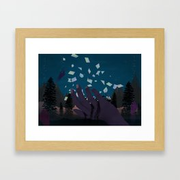 Pure intentions, distorted actions Framed Art Print