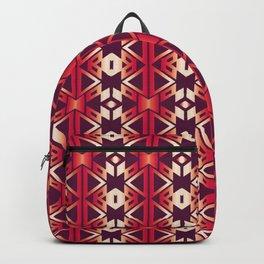 burgundy edge Backpack
