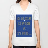 fairy tale V-neck T-shirts featuring Fairy Tale Beginnings by Fimbis